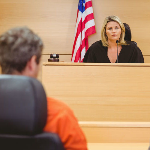 A Judge Addresses a Defendant.