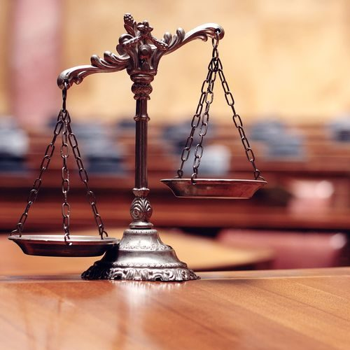 A Picture of a Symbol of Law and Justice.